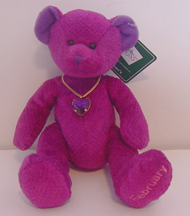 Birthstone Bear of the Month, February