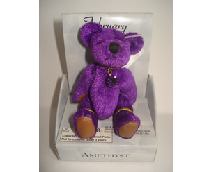 Small Birthstone Bear of the Month, February