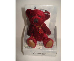 Small Birthstone Bear of the Month, January