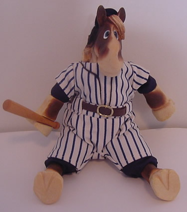 Kathleen Kelly baseball horse, Shoeless Joe