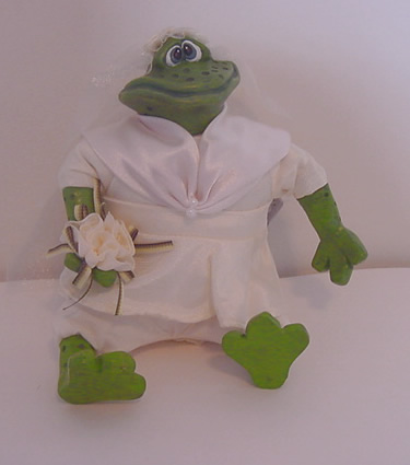 Kathleen Kelly bride frog, Mrs Pondhopper