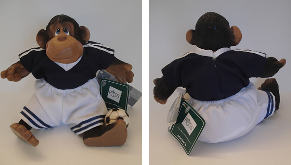 Kathleen Kelly soccer monkey, P Le Chimp - Click Image to Close