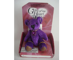 Gem of My Heart Teddy, Purple