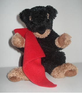 Rottweiler Puppy with Blankie : Treasure Bears, High End Plush And