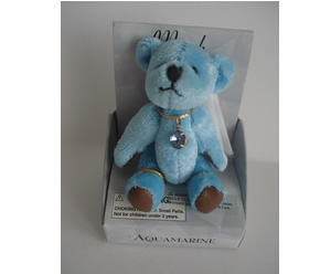 Small Birthstone Bear of the Month, March