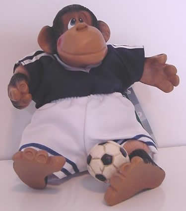 Kathleen Kelly soccer monkey, P Le Chimp