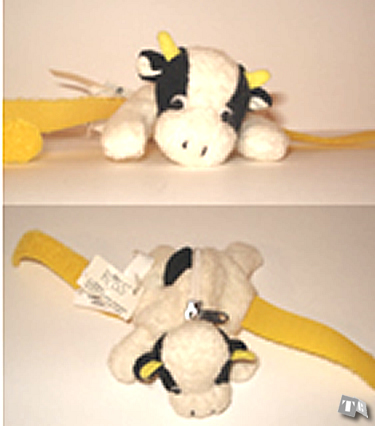 """Loopie"" Cow - Zippered Pouch"