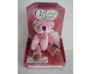 Gem of My Heart Teddy, Pink