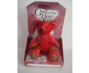 Gem of My Heart Teddy, Red
